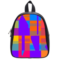 Misc colorful shapes                                           			School Bag (Small)