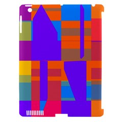Misc colorful shapes                                           			Apple iPad 3/4 Hardshell Case (Compatible with Smart Cover)