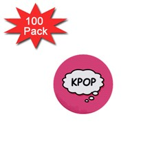 Comic Book Think Kpop Pink 1  Mini Buttons (100 pack)
