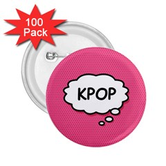 Comic Book Think Kpop Pink 2.25  Buttons (100 pack)