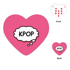 Comic Book Think Kpop Pink Playing Cards (Heart)