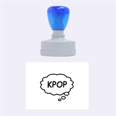 Comic Book Think Kpop Pink Rubber Oval Stamps