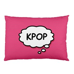 Comic Book Think Kpop Pink Pillow Case (Two Sides)
