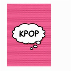 Comic Book Think Kpop Pink Large Garden Flag (Two Sides)