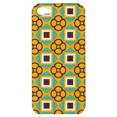 Flowers and squares pattern                                            Apple iPhone 5 Hardshell Case
