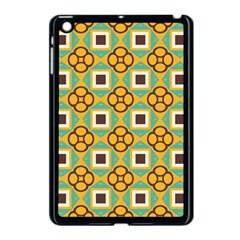 Flowers and squares pattern                                            Apple iPad Mini Case (Black)