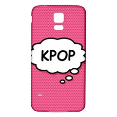 Comic Book Think Kpop Pink Samsung Galaxy S5 Back Case (White)