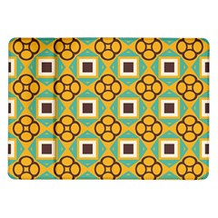 Flowers and squares pattern                                            			Samsung Galaxy Tab 10.1  P7500 Flip Case
