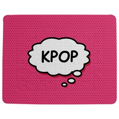 Comic Book Think Kpop Pink Jigsaw Puzzle Photo Stand (Rectangular)