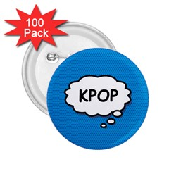 Comic Book Kpop Blue 2.25  Buttons (100 pack)