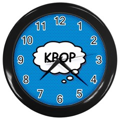 Comic Book Kpop Blue Wall Clocks (Black)