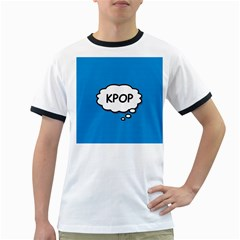 Comic Book Kpop Blue Ringer T-Shirts