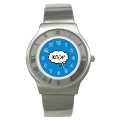Comic Book Kpop Blue Stainless Steel Watch