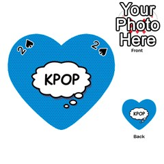 Comic Book Kpop Blue Playing Cards 54 (Heart)