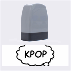 Comic Book Kpop Blue Name Stamps