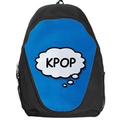 Comic Book Kpop Blue Backpack Bag