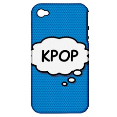 Comic Book Kpop Blue Apple iPhone 4/4S Hardshell Case (PC+Silicone)