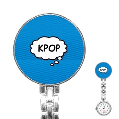 Comic Book Kpop Blue Stainless Steel Nurses Watch