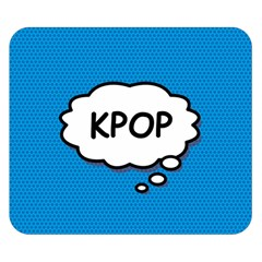 Comic Book Kpop Blue Double Sided Flano Blanket (Small)