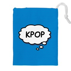 Comic Book Kpop Blue Drawstring Pouches (xxl)