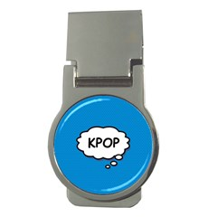 Comic Book Kpop Blue Money Clips (Round)