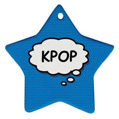 Comic Book Kpop Blue Star Ornament (Two Sides)