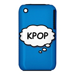 Comic Book Kpop Blue Apple iPhone 3G/3GS Hardshell Case (PC+Silicone)
