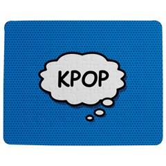 Comic Book Kpop Blue Jigsaw Puzzle Photo Stand (Rectangular)