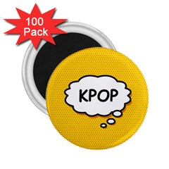 Comic Book Kpop Orange 2.25  Magnets (100 pack)