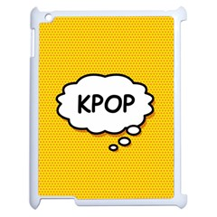 Comic Book Kpop Orange Apple iPad 2 Case (White)