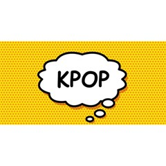 Comic Book Kpop Orange YOU ARE INVITED 3D Greeting Card (8x4)