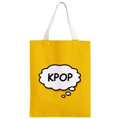 Comic Book Kpop Orange Classic Light Tote Bag