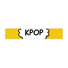 Comic Book Kpop Orange Flano Scarf (Mini)