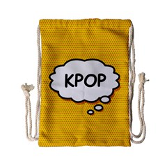 Comic Book Kpop Orange Drawstring Bag (Small)
