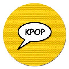 Comic Book Shout Kpop Orange Magnet 5  (Round)