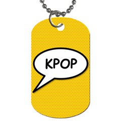 Comic Book Shout Kpop Orange Dog Tag (One Side)