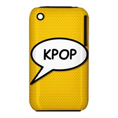 Comic Book Shout Kpop Orange Apple iPhone 3G/3GS Hardshell Case (PC+Silicone)
