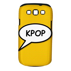 Comic Book Shout Kpop Orange Samsung Galaxy S III Classic Hardshell Case (PC+Silicone)