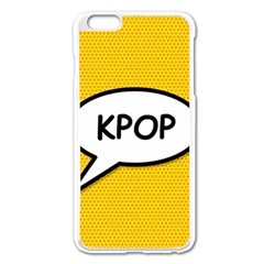Comic Book Shout Kpop Orange Apple iPhone 6 Plus/6S Plus Enamel White Case