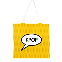 Comic Book Shout Kpop Orange Grocery Light Tote Bag