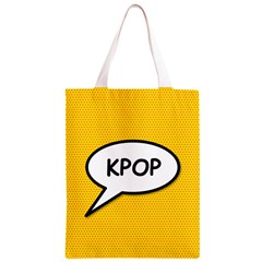 Comic Book Shout Kpop Orange Classic Light Tote Bag