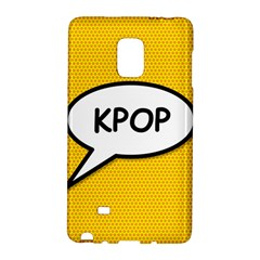 Comic Book Shout Kpop Orange Galaxy Note Edge