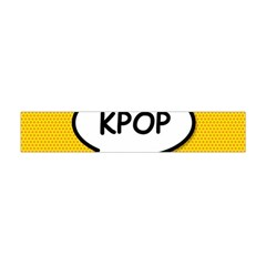 Comic Book Shout Kpop Orange Flano Scarf (Mini)