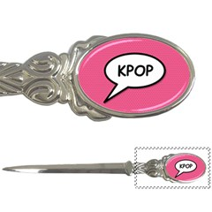 Comic Book Shout Kpop Pink Letter Openers