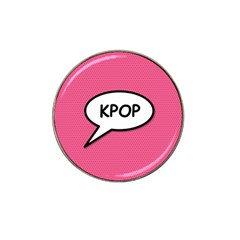 Comic Book Shout Kpop Pink Hat Clip Ball Marker