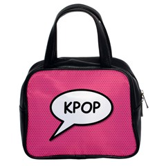 Comic Book Shout Kpop Pink Classic Handbags (2 Sides)