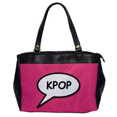 Comic Book Shout Kpop Pink Office Handbags