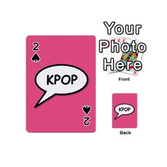 Comic Book Shout Kpop Pink Playing Cards 54 (Mini)