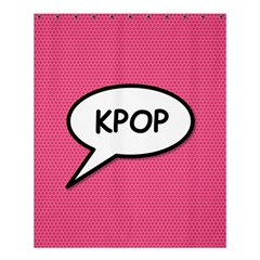 Comic Book Shout Kpop Pink Shower Curtain 60  x 72  (Medium)