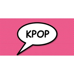 Comic Book Shout Kpop Pink YOU ARE INVITED 3D Greeting Card (8x4)